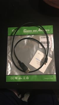 Black usb cable with pack
