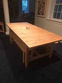 Kitchen or dining table with benches.   Solid wood. Monkton, 21111