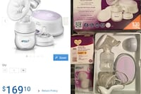 Avent Single Electric Breast Pump - free bags and manual Breast pump. Winnipeg, R2C 1M9