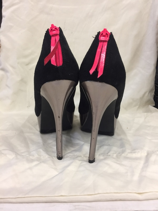 d05966ab64f Used Material Girl Pink Black Silver heels for sale in Concord - letgo