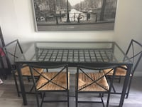 Glass Dining Table with Chairs Set of 4 Toronto, M4P