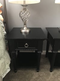 Two matching black nightstands LOSANGELES