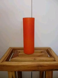 Orange Vase/Candle Holder