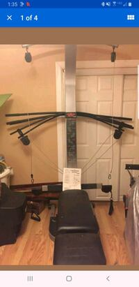 Cross bow exercise gym with extra resistance bows