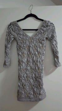 BEBE grey bandage dress size S