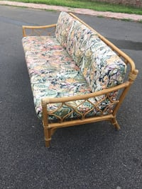 brown wooden framed green and white floral padded armchair Richmond Hill, L4C 9S5