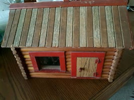 Doll cabin house with accessories