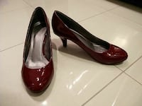 Red Patent Kitten Heels
