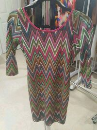 New Backless colorful dress size M  Mississauga