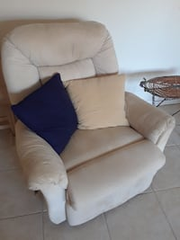 brown fabric sofa chair with ottoman Fort Myers, 33967