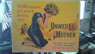 Price Reduc1958 Exploitation Movie Poster on Board