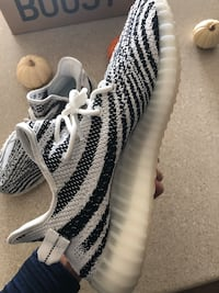06550ea6c56 Used UA Yeezy Boost 350 V2 Zebra - Size 12 for sale in Huntington ...