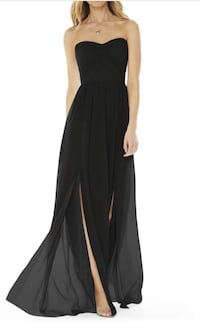Black Strapless Bridesmaids/Evening Gown size 4 Jersey City, 07302