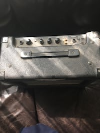 Bought the amp for $110 I've got the power chord but not the connector for the guitar to amp. It works. Winnipeg, R3R 1E6