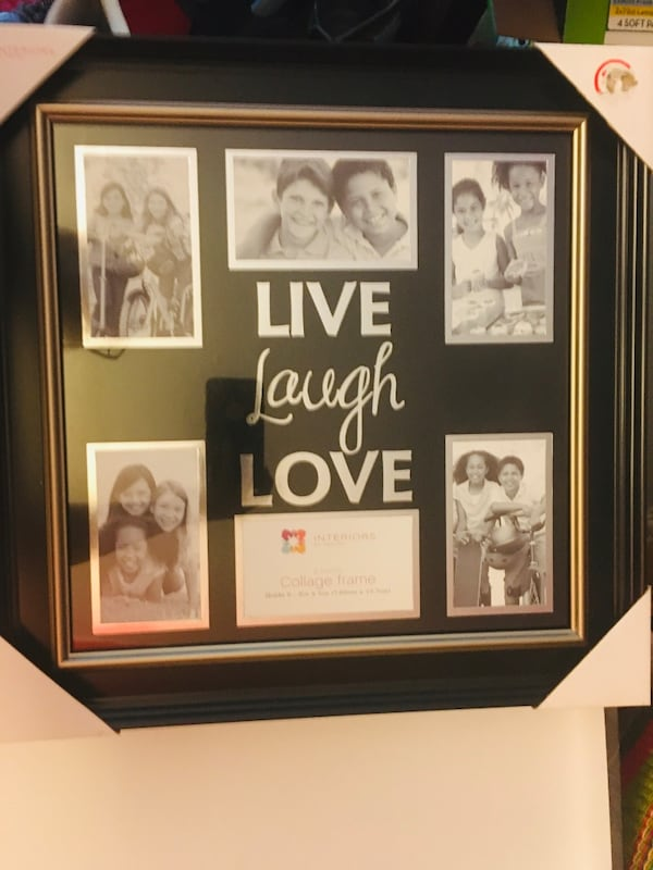 Live laugh love collage frame 0