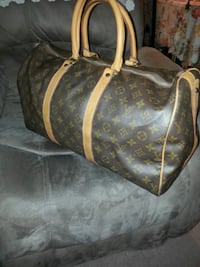 brown and black leather Louis Vuitton tote bag Toronto, M6E 4V2