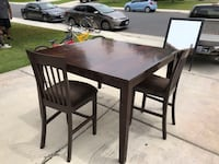"Dining Table w/8 chairs in good condition, asking for 20"" or best offer  Bakersfield, 93313"