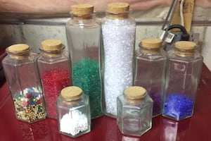 5,000 Craft Beads and Storage Jars For Sale