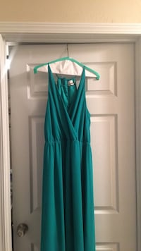 women's green dress