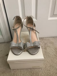 pair of gray open-toe ankle strap heels Fairfax, 22030