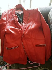 red leather zip-up jacket Kingston, K7M 2X4