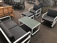 New 5 Piece Outdoor Patio Set. Grey. Delivery and Assembly included! Los Angeles