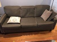 Loveseat and sofa Good condition Includes pillows  Pickup only