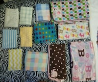 Baby blankets and burp rag Colton, 92324