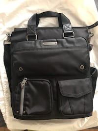black leather 2-way bag New York, 10019