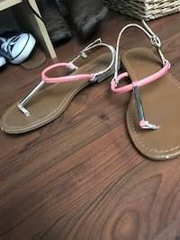 pair of pink-and-white leather sandals El Centro, 92243