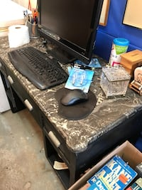 Antique Metal and Marble Desk Beaconsfield, H9W 1K3