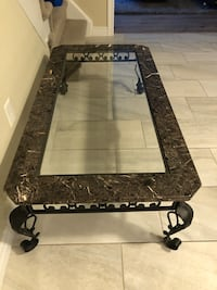 Marble/Glass Coffee Table