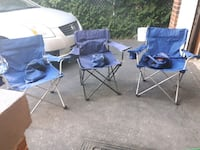Three camping chairs with sleeves Toronto, M9C 2N4