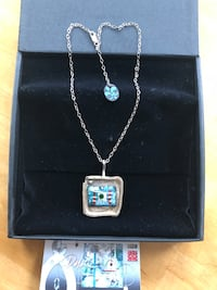 Enamel and Metal Pendant and chain 3726 km