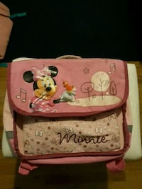 Sac à dos rose et blanc Minnie