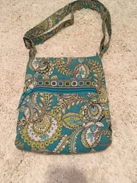 women's green, blue, and white floral sling bag West Baden Springs, 47469