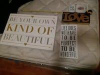 Motivational wooden frames