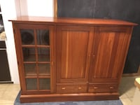 Solid Cherry - Beautiful Entertainment Cabinet (Delivery Option) Revere, 02151