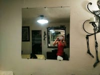 white and red wooden wall mirror 2280 mi