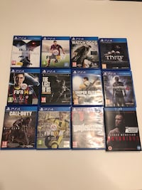 Ps4 spill og blu ray DVD film. Kill zone, FIFA 14, FIFA 15, FIFA 17, call of dutty modern warfare, the last of us, watch dogs 2, sniper elite 3, wolfeinsein, thief, Uncharted 4, Blu-ray connor mc gregor. Alle Spill er solgt utenom alle FIFA spillene + Blu Rasta, 1476