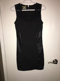 Brand new never worn tags on. Size  Small- Black dress with faux leather panels down the sides  Edmonton, T5A