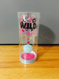 Hand Painted Wild Thing Cheetah Print Wine Glass