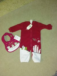 Babies first Christmas outfit and bib Spring Grove, 17362