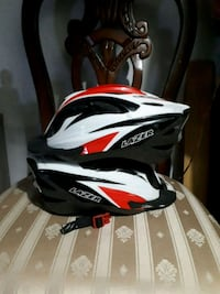 white, black, and red Bell bicycle helmet 3738 km