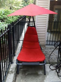 red and black patio umbrella Port Coquitlam, V3C 1X2