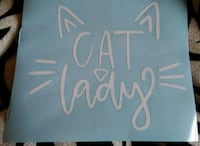 Cat lady decal sticker York