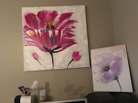 pink and white flowers painting Winnipeg, R2H 0T6