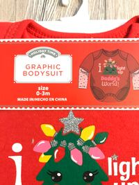 Holiday Time Christmas Graphic Bodysuit 0-3 months Salem, 01970
