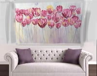 pink and white floral painting Ottawa, K2G 0G2