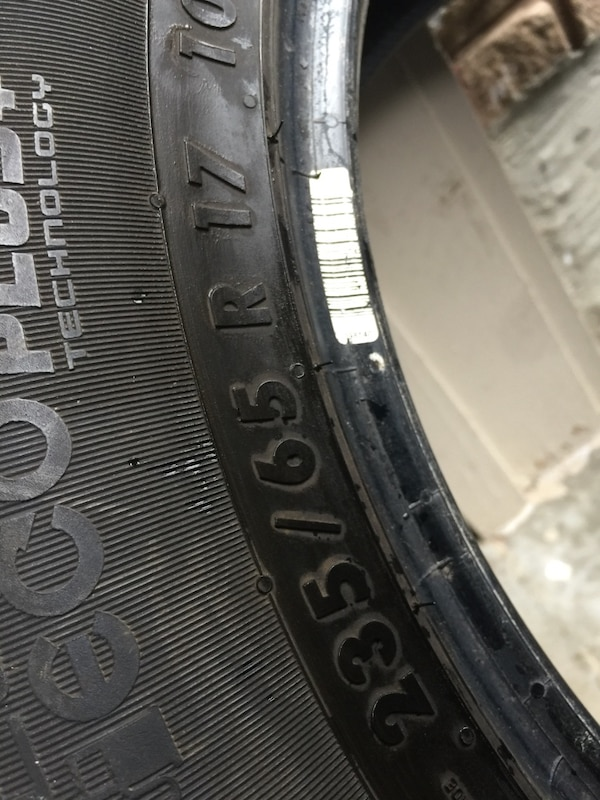 Just only one al season tires size 235/65/17 3